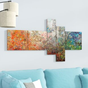 Board Stained Abstract Art Print Multi Piece Image On Canvas