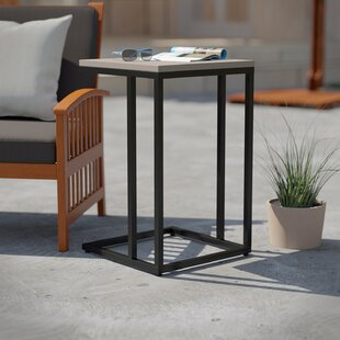 Concetta Stone/Concrete Side Table