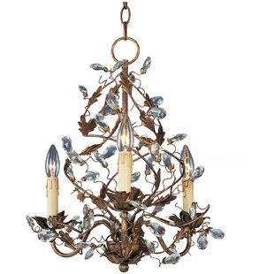 Bungalow Rose Kaiya 3-Light Candle Style Chandelier