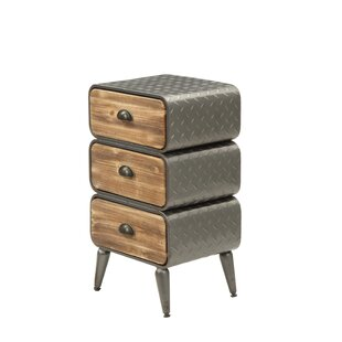 Krish Rounded 3 Drawer Nightstand by Williston Forge
