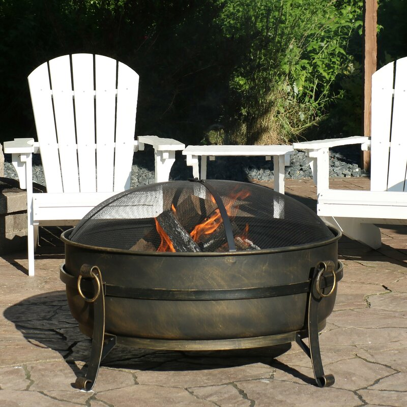 Charlton Home Flanigan Steel Wood Burning Fire Pit Reviews Wayfair