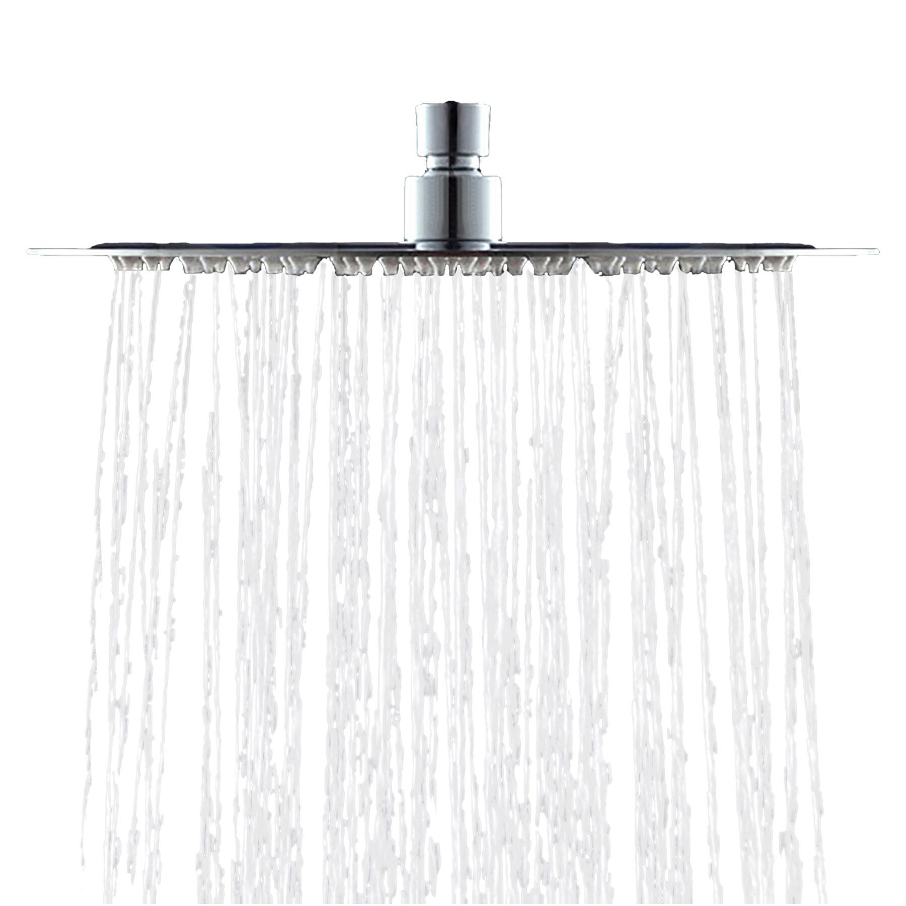 AKDY Round Single Spray Rain Adjustable Shower Head | Wayfair