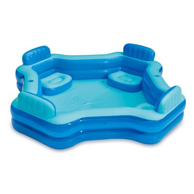 Summer Waves  8.75Ft X 26In Inflatable 4 Person Deluxe Swimming Pool - Polygroup Trading Ltd KB0706000