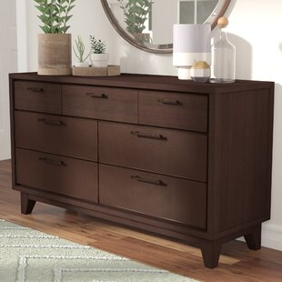 Bargain Cornwall 7 Drawer Dresser with Mirror by Langley Street