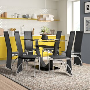 Jayda Dining Set With 6 Chairs By Zipcode Design