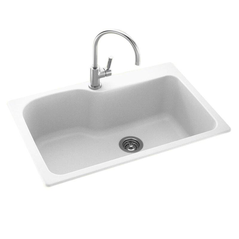 33   x 22   drop in undermount kitchen sink 33   x 22   drop in undermount kitchen sink  u0026 reviews   joss  u0026 main  rh   jossandmain com