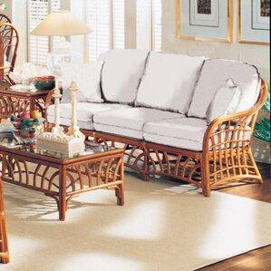 New Kauai Grasmere Cocoa Sofa by South Sea Rattan