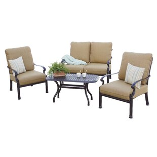 Palazzo Sasso 4 Piece Sofa Set with Cushions