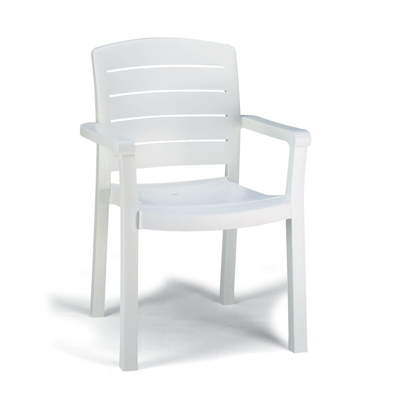Grosfillex Commercial Resin Furniture Acadia Stacking Patio Dining Chair Reviews Wayfair
