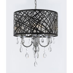 House of Hampton Belfield Crystal 4-Light Chandelier