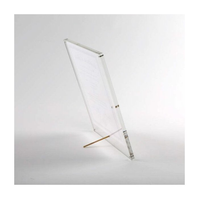 MT Displays Tabletop Clear Acrylic L Frame with Standoff Hardware ...