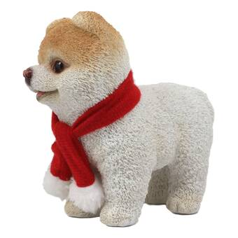 Christmas Boo The World/'s Cutest Pomeranian Dog Statue Pet Pal Dogs Collectible