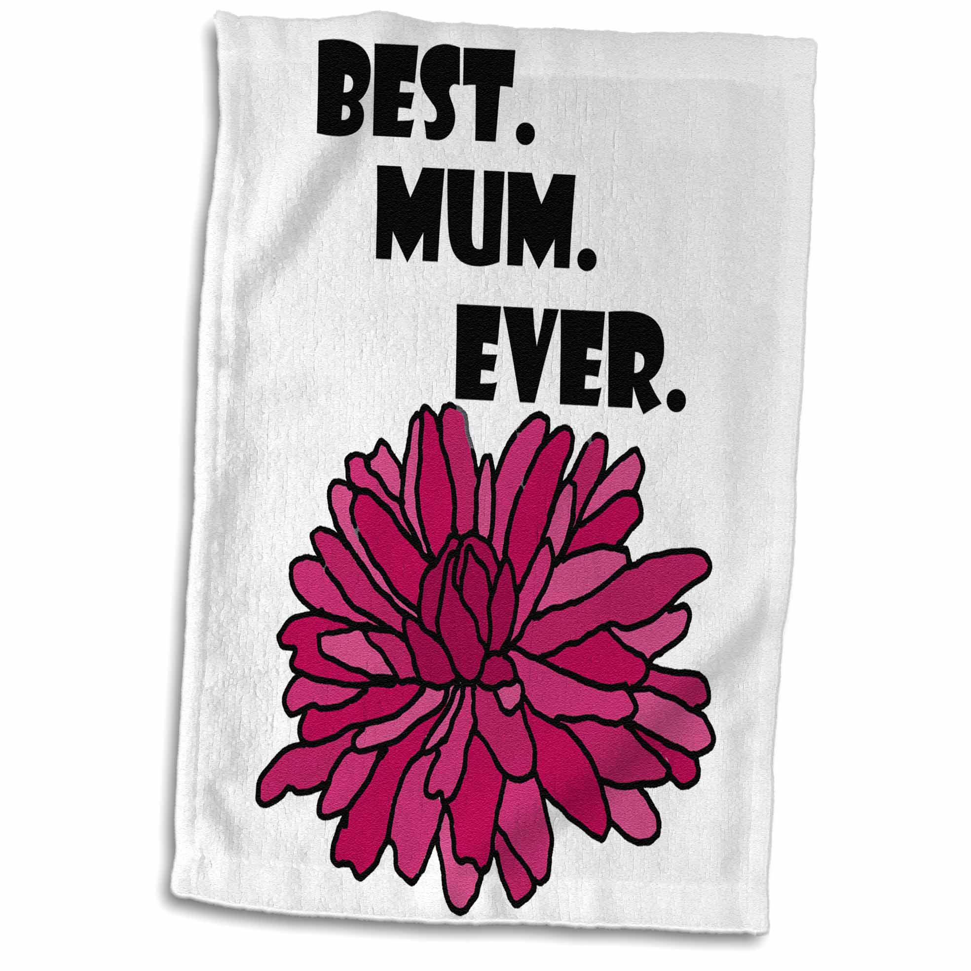 East Urban Home Hammons Funny Cool Best Mom Ever Chrysanthemum Flower Pun Tea Towel Wayfair