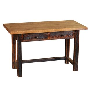 Reclaimed Barnwood 2 Drawers Writing Desk by Fireside Lodge