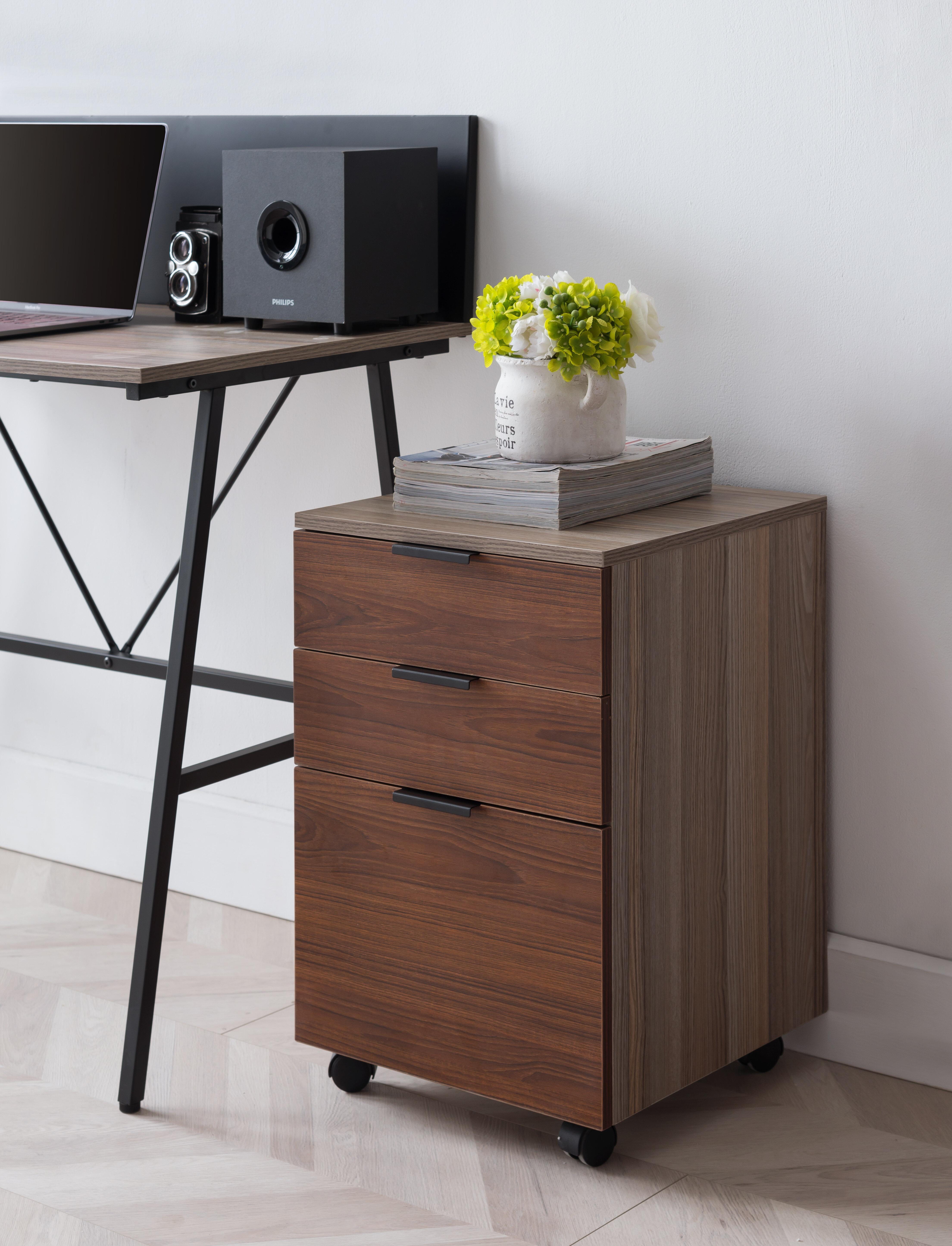 Foundry Select Horace 3-Drawer Mobile Vertical Filing Cabinet