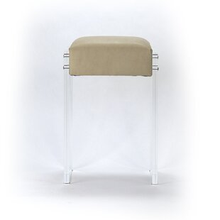Larrison Acrylic 25 Bar Stool by Everly Quinn