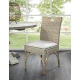 Ridgemoor Wicker/Rattan Side Chair in Whitewash (Set of 2) by Rosecliff Heights
