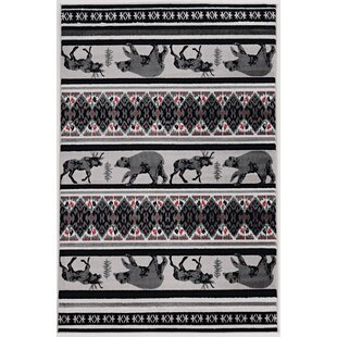 Reviews Kailyn Lodge Black/Gray Area Rug ByMillwood Pines