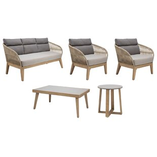Fuego 5 Piece Sofa Seating Group with Cushions