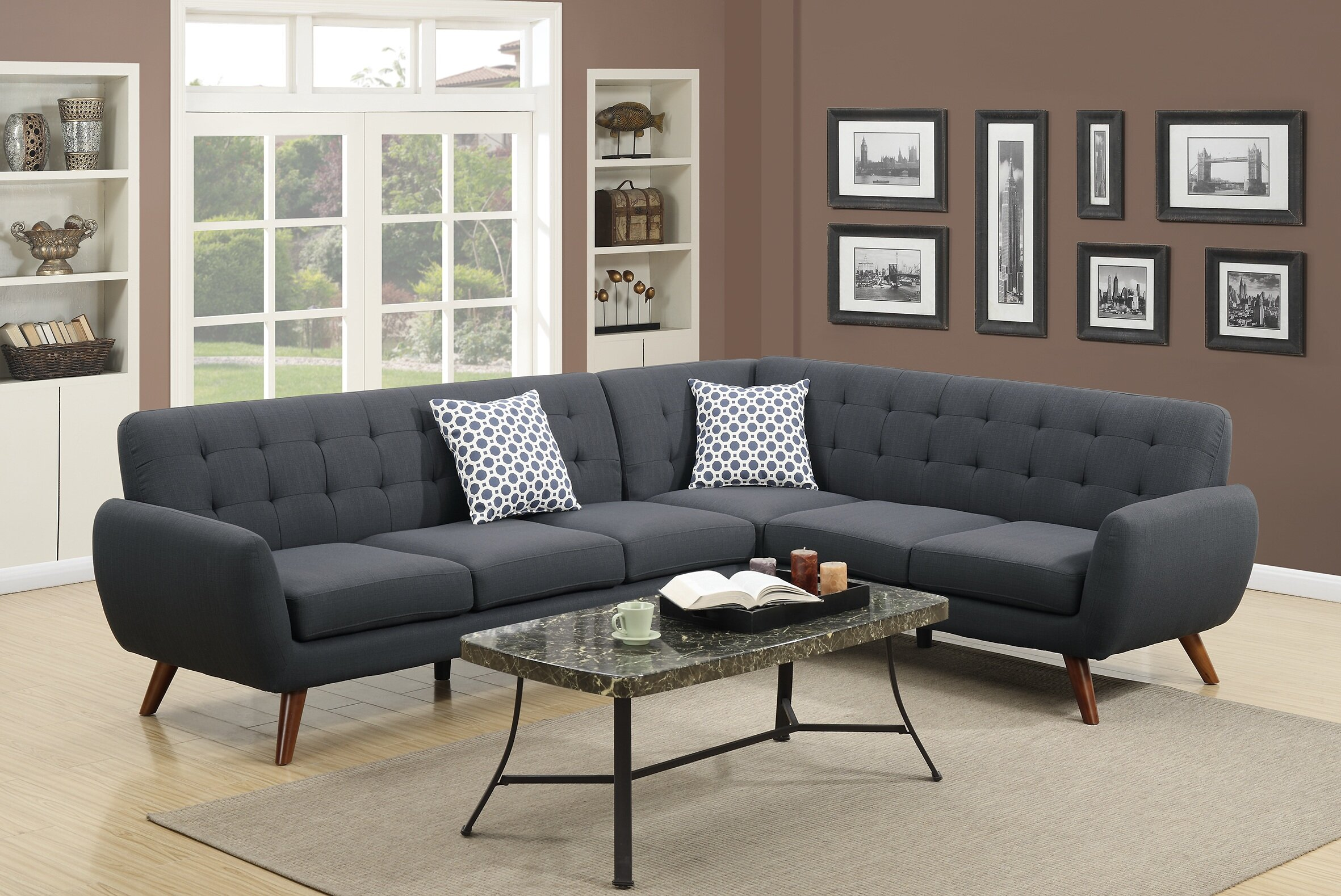 Admirable Min Right Hand Facing Sectional Theyellowbook Wood Chair Design Ideas Theyellowbookinfo
