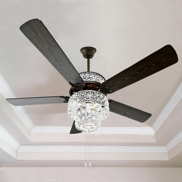 River of goods 52 punched metal crystal 5 blade ceiling fan with 52 punched metal crystal 5 blade ceiling fan with remote aloadofball Images
