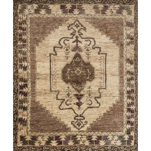 Nomad Hand-Knotted Mocha/Beige Area Rug