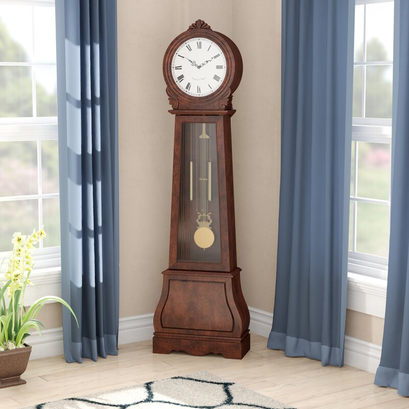 Winston Porter Swensen 71 75 Grandfather Clock Reviews Wayfair
