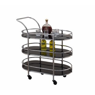 Engstrand Metal/Glass Bar Cart