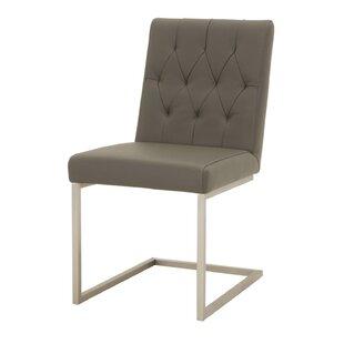 Bertram Leather Upholstered Dining Chair (Set of 2) by Orren Ellis