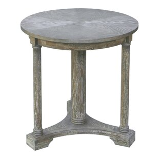 Kenia Weathered End Table by One Allium Way Cheap