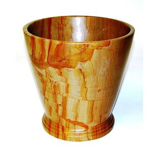 Nature Home Decor Series 300 in Teakwood Marble 4 Gallon Waste Basket
