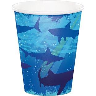 Shark Splash Paper Disposable Cup (Set of 24)