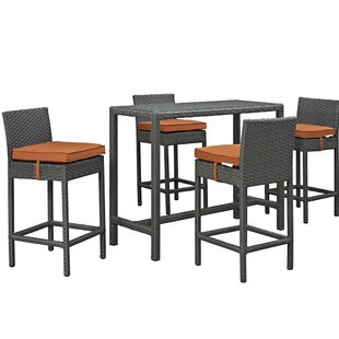 Brayden Studio Tripp 5 Piece Bar Height D..