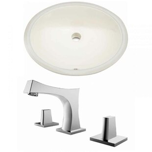 Read Reviews Ceramic Oval Undermount Bathroom Sink with Faucet and Overflow By Royal Purple Bath Kitchen