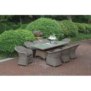 9 Piece Dining Set with Cu..