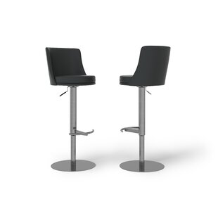 Read Reviews Bruno Height Adjustable Swivel Bar Stool