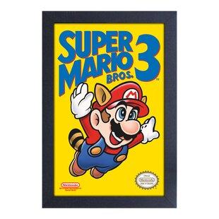 u0027Super Mario Brosu0027 Framed Graphic Art Print  sc 1 st  Wayfair & Super Mario Wall Art | Wayfair