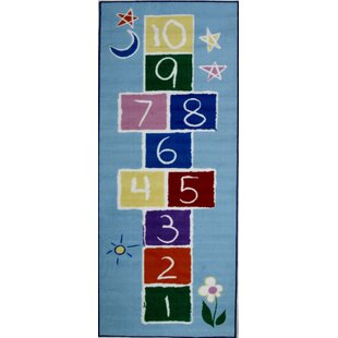 Check Prices Fun Time Primary Hopscotch Area Rug ByFun Rugs