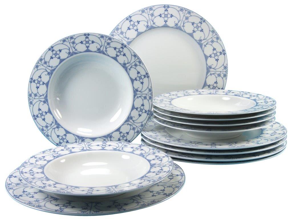 creatable 12 tlg tafelservice borkum indisch blau aus porzellan f r 6 personen bewertungen. Black Bedroom Furniture Sets. Home Design Ideas