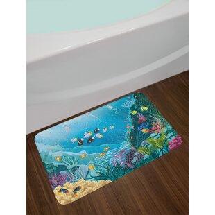 Underwater Fish Bath Rug