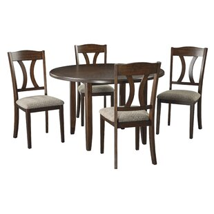 Hedges 5 Piece Dining Set Charlton Home