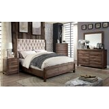 Fonso Queen Platform Solid Wood 5 Piece Bedroom Set by Union Rustic