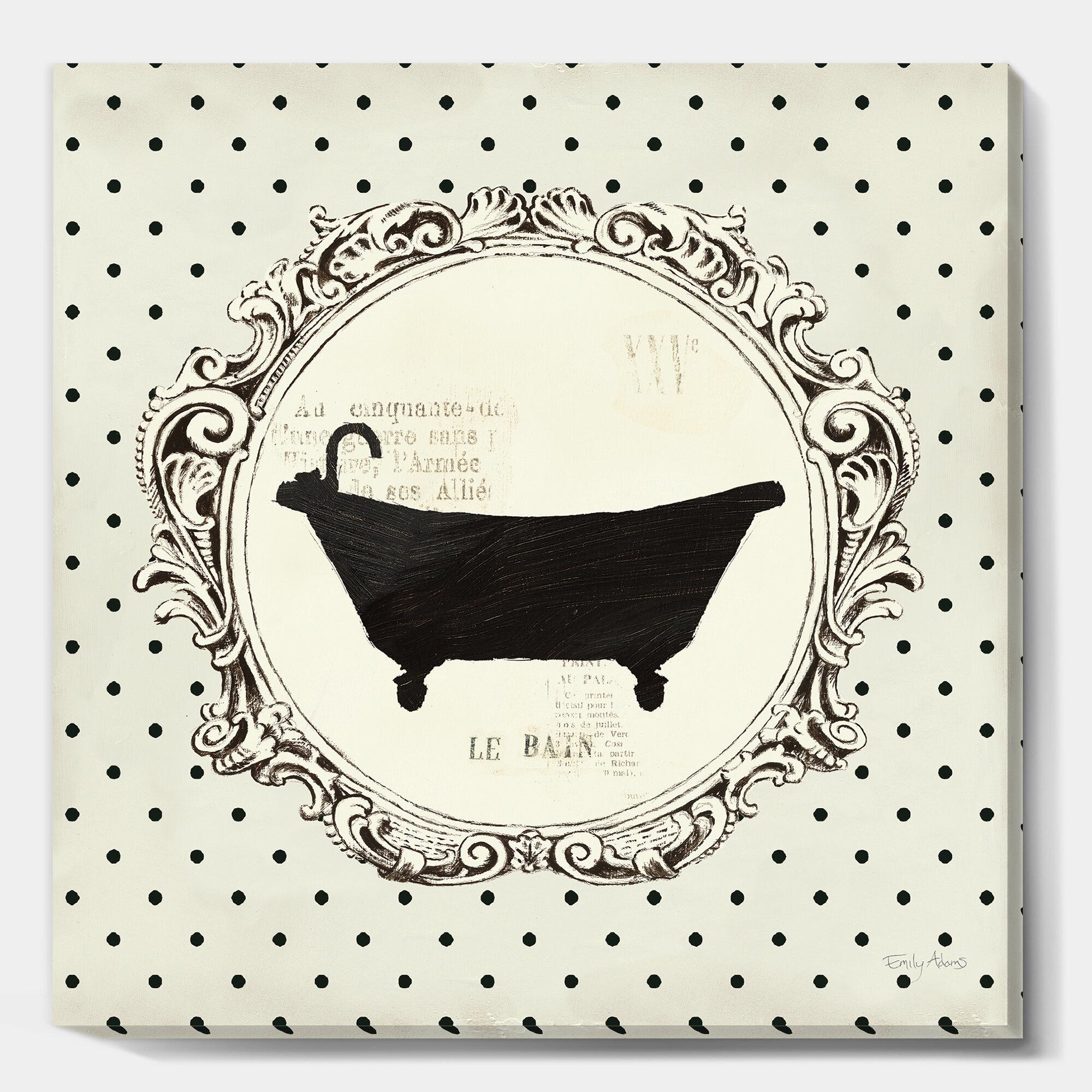 East Urban Home Vintage French Bathroom Iii Print Wayfair