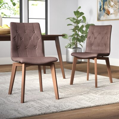 Maximus Side Chair Brayden Studio Upholstery Color Tabacco