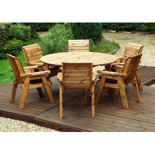 Faust 6 Seater Dining Set With Cushions By Union Rustic