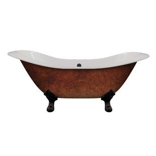 Cast Iron Double Ended Slipper 71 X 30 Freestanding Soaking Bathtub