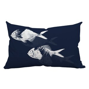Buy Fish Watercolor Graphic Lumbar Pillow!