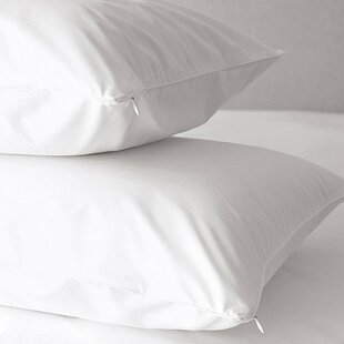 Premium 500 Thread Count Zippered Pillow Protector Set Of 2