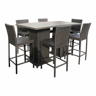Medley 8 Piece Pub Table Set Rosecliff Heights