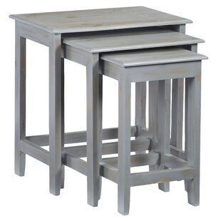 Gracie Oaks Knobel 3 Piece Nesting Tables